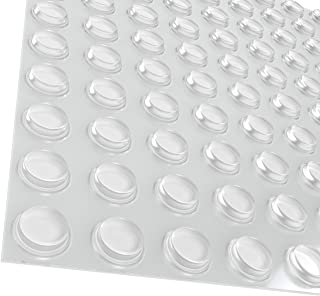 """Best Pack of 100 Cabinet Door Bumpers - 1/2"""" Diameter Clear Adhesive Pads for Drawers, Glass Tops, Cutting Boards, Picture Frames, Small Furniture Review"""