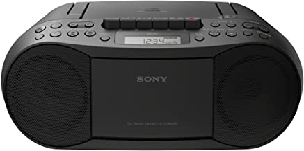 Sony Stereo CD/Cassette Boombox Home Audio Radio, Black...