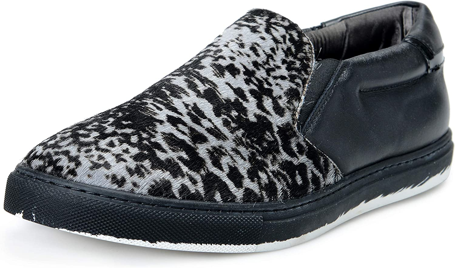Just Cavalli Men's Pony Hair Leather Loafers Slip On Shoes US 10 IT 43