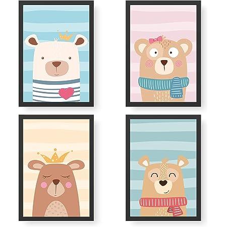Wandbild mit Namen Papierdrachen 4 Premium Poster DIN A4 Personalisierte Wandbilder f/ür Kinderzimmer Dekoration hochwertige individualisierbare Kunstdrucke Dino