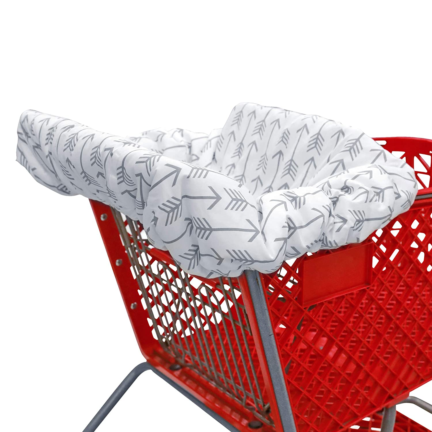 Shopping cart Covers for Baby | High Chair and Grocery Cover for Babies | Infants |Toddlers Trolley Seat for Boys and Girls (Gray Arrows)