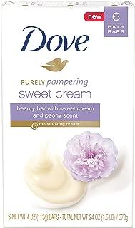 Dove Purely Pampering Beauty Bar, Sweet Cream & Peony, 4 oz, 6 Bar
