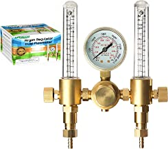 Argon Regulator Dual Co2 Flowmeter by Manatee for TIG MIG Welder Gas and backpurge 60 SFCH - CGA 580 inlet connection and 5/8