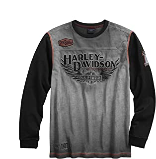 Harley-Davidson Official Men's Iron Block Pullover, Grey...