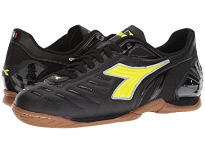 Diadora Maracana 18 ID (Black/Fluo Yellow) Men
