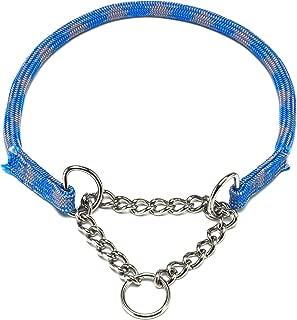 ドッグ・ギア ザイルハーフチョーク首輪 ロープ径8mm ブルー しつけサイズ 「しつけとおしゃれを両立できる首輪です」