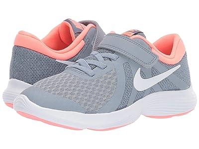 Nike Kids Revolution 4 (Little Kid) (Obsidian Mist/White/Lava Glow) Girls Shoes