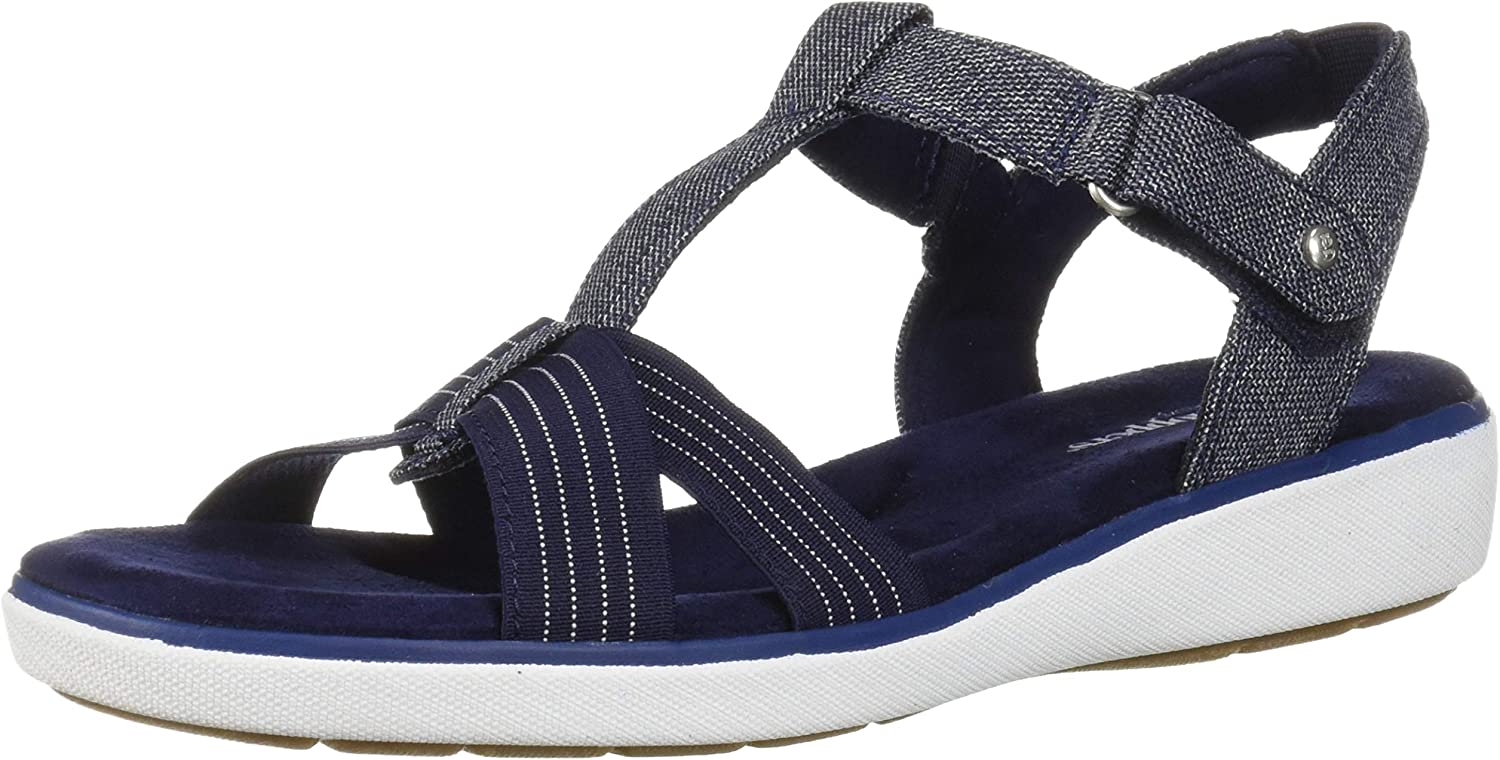 Challenge the lowest price of Japan ☆ Grasshoppers Women's Ruby Spasm price T-Strap Chambray Sandal