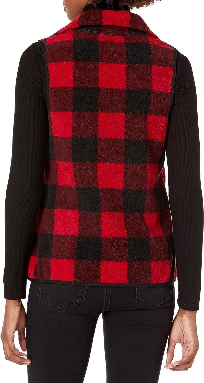 CHAPS Womens Petite Sizing Fleece Lined Sherpa Full Zip Vest Sweater Vest
