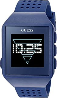 GUESS Quartz Watch with Silicone Strap, Blue, 20 (Model: C3002M5)
