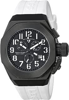 Men's 10542-BB-01-WA Trimix Diver Chronograph Black Dial White Silicone Watch