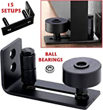 Floradis 15 Setup Options Barn Door Guide. Ultra Smooth Ball Bearings Stay Roller Hardware. Completely Flush To Floor. Thin Fully Adjustable Wall Mount Bracket. Scratch-Resistant Wheels