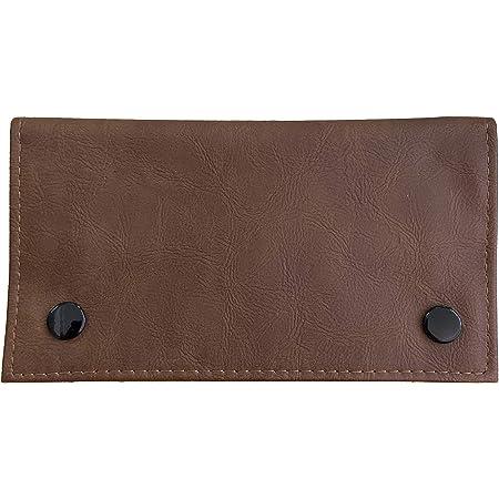 Estuche para tabaco de piel con bolsillo encerado húmedo para tabaco (marrón)