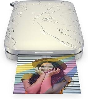 HP Sprocket Impresora fotográfica instantánea portátil de 5.8x8.7 cm, Imprima imágenes en papel adhesivo ZINK desde sus di...
