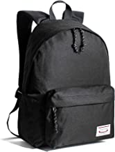 Leaper Classic School Backpack Unisex Travel Bag Bookbag Satchel Daypack Black