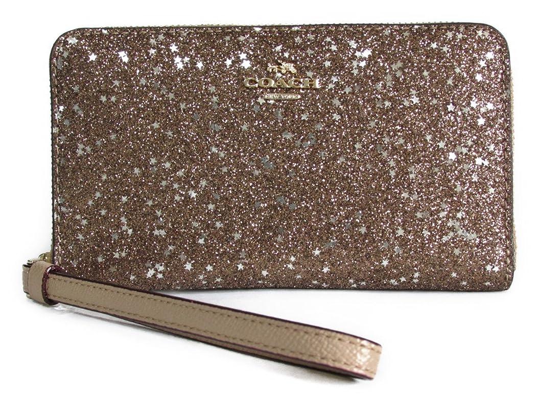 スイス人ありふれたキーコーチ ボックス スター グリット フォン ウォレット COACH Boxed Star Glitter Phone Wallet F23448 IMGLD IM/Gold [並行輸入品]
