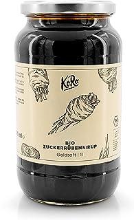 KoRo - Sirop de betterave sucrière 1 l - Alternative au sucre - Fabriqué à partir de 100 % de betterave sucrière sans addi...