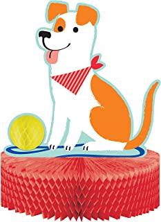 "Creative Converting Dog Party Centerpieces, 9"" x 12"", Red"