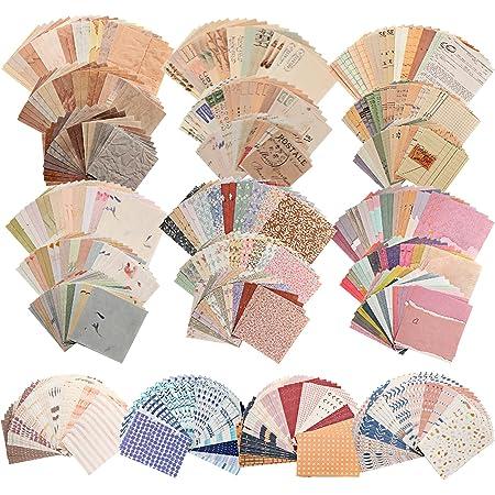 560 Feuilles de Fournitures de Journalisation Vintage Fournitures de Papier de Scrapbooking Antique Papier Décoratif Esthétique pour Journal Indésirable Scrapbooking Écriture et Dessin