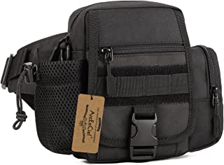 ArcEnCiel Multi Functional Waist Pack, Military Single Shoulder Hip Belt Bag Fanny Packs Water Resistant Waist Bag Pouch Hiking Climbing Outdoor Bumbag with Water Bottle Pocket Holder