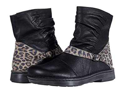 Naot Lorca (Soft Black Leather/Cheetah Suede) Women
