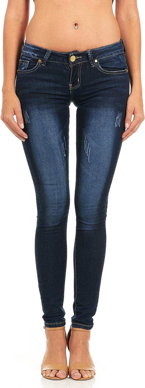 CoverGirl Women's Five Pocket Classic bluee Wash Slim Fit Skinny