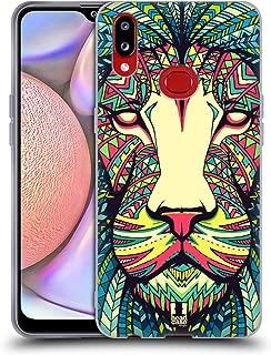 Head Case Designs Lion Aztec Animal Faces Soft Gel Case Compatible for Samsung Galaxy A10s (2019)