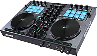 Gemini GV Series G2V Professional Audio 2-Channel MIDI Mirtable Virtual Controller DJ with Touch Sensitive Jog Wheel and Monitor Monitor