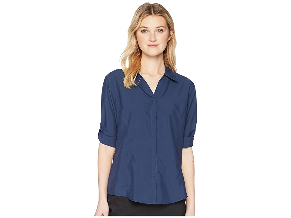 Royal Robbins Expedition Chill Stretch 3/4 Sleeve Top (Deep Blue) Women