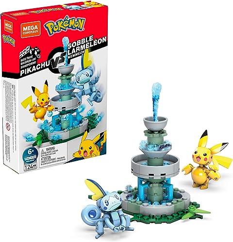 high quality Mega Construx Pokemon Pikachu outlet online sale vs. Sobble popular Figure Building Set sale