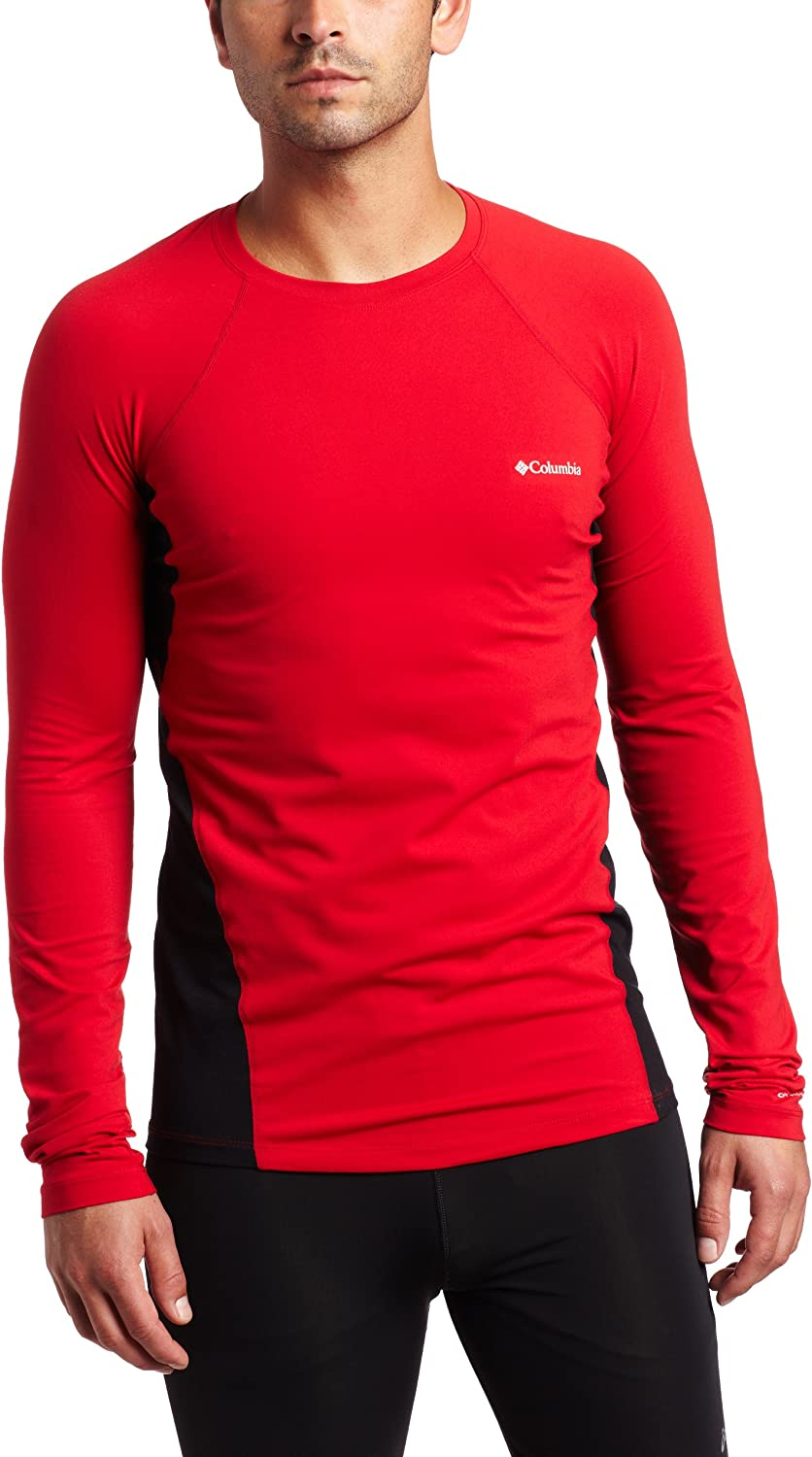 Columbia Men's Baselayer Midweight Nippon regular agency Long At the price of surprise Sleeve Top Red Intense