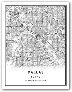 Best dallas map print Reviews