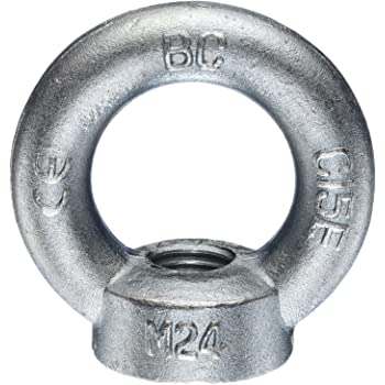 Seilwerk STANKE 50x Ringmutter M12 Ringsmutter 12 mm /Öse Mutter Auge verzinkt
