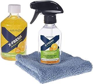 NERIOX X-FRESH Orangenreiniger Set – 3-teilig – Bestehend aus Orangenreiniger Konzentrat 500 ml, Microfasertuch und Sprühflasche – das Reinigungsmittel für hartnäckigste Verschmutzungen