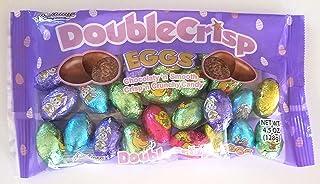 Palmer (1 Bag) Double Crisp Eggs - Chocolaty 'n Smooth Crisp'n Crunchy Chocolate Easter Candy - Net Wt. 4.5 oz / 128 g