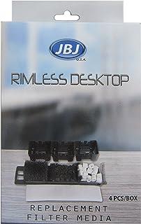 JBJ Rimless Desktop Filter Media (4-Pack)