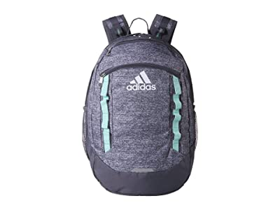 adidas Excel V Backpack (Jersey Onix/Clear Mint/Onix) Backpack Bags