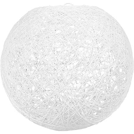 LUM&CO Abat-jour suspendu en forme de boule, blanc, 20 x 19 x 20 cm