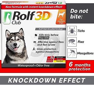 Rolf Club 3D FLEA Collar for Dogs – Flea and Tick Prevention for Dogs – Dog Flea and Tick Control for 6 Months – Safe Tick...