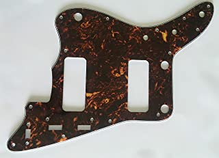 Electric Guitar Pickguard for Fender Japan Jazzmaster P90 Style (4 Ply Brown Tortoise)