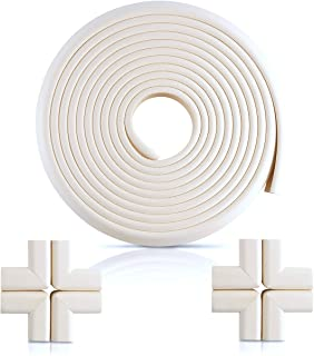 Furniture Edge and Corner Guards | 20.4ft Protective Foam Cushion | 18ft Bumper 8 Adhesive Childsafe Corners | Baby Child ...