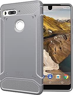 TUDIA Essential Phone PH-1 Case, Carbon Fiber Design Lightweight [TAMM] TPU Bumper Shock Absorption Cover for Essential Phone PH-1 (Gray)