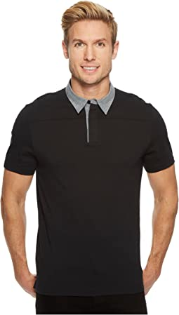 Perry Ellis - Heathered Collar Pima Cotton Polo