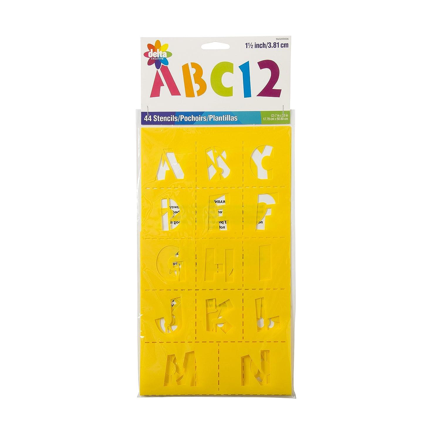 Delta Creative 960200006 Playtime Alphabet Stencil