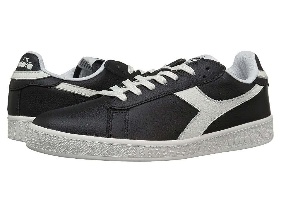 Diadora Game L Low Waxed (Black/White) Athletic Shoes