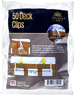 Sorillo Brands Holiday Joy - 50 Deck Clips for Outdoor Lights