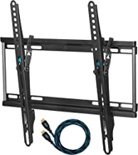 """Cheetah APTMSB TV Wall Mount for 20-55"""" TVs up to VESA 400 and 115lbs, and fits 16"""" Wall Studs, and Includes a Tilt TV Bracket, a 10' Twisted Veins HDMI Cable and a 6"""" 3-Axis Magnetic Bubble Level"""