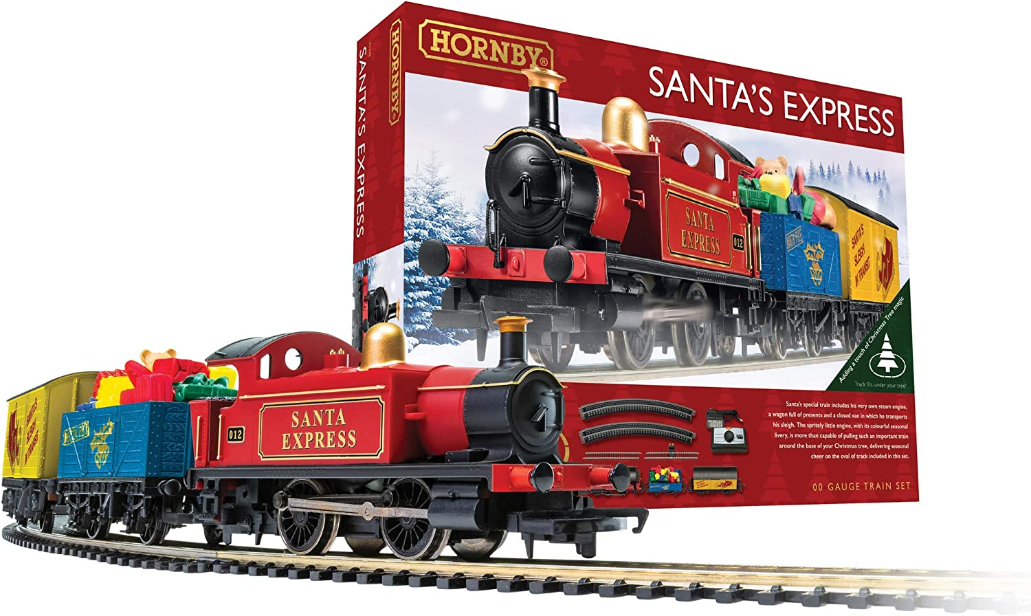 Hornby Santa's Express Christmas Toy Red Blue Train Tampa Mall Set R1248 Free shipping New