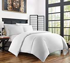 Zen Bamboo Ultra Soft 3-Piece Bamboo Derived Rayon Duvet Cover Set -?Hypoallergenic and Wrinkle Resistant - Full/Queen - W...