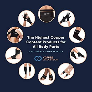 Copper Compression Copper + Zinc Elbow Sleeve. Guaranteed Best Elbow Brace with Infused Support for Workouts, Golfers...